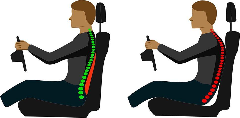 nakładka2 - Poduszka naoparcie fotela zadba onasze plecy wczasie jazdy samochodem